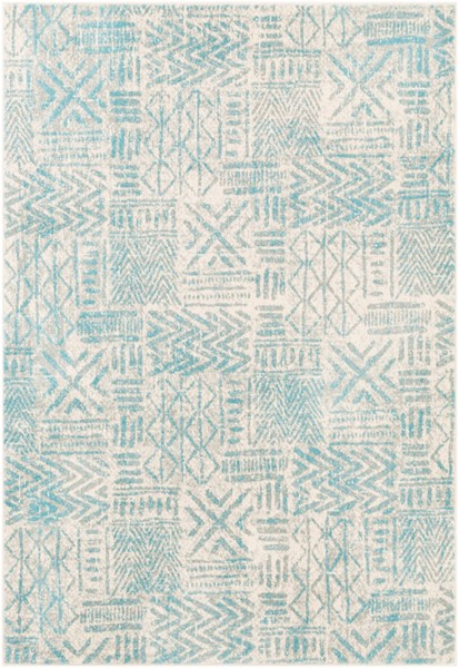 Surya Harput Aqua Light Gray White Area Rug - 36 x 24 HAP1094-23