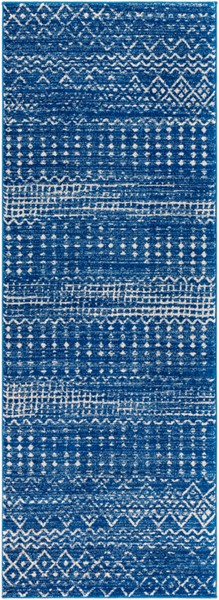 Surya Harput Bright Blue Light Gray Runner - 87 x 31 HAP1095-2773