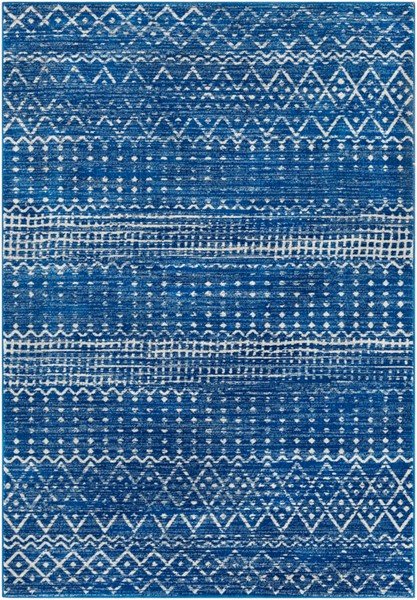 Surya Harput Bright Blue Light Gray Area Rug - 67 x 47 HAP1095-31157