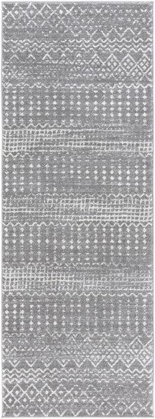 Surya Harput Rectangle Charcoal Light Gray White Runner - 87 x 31 HAP1096-2773