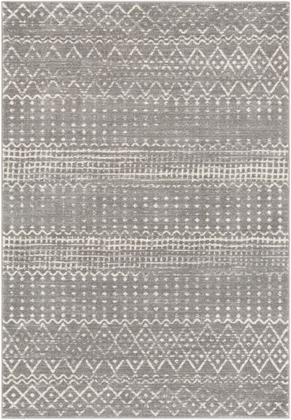 Surya Harput Rectangle Charcoal Light Gray White Area Rug - 87 x 63 HAP1096-5373