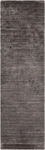 Haize Contemporary Charcoal Viscose Runner HAZ6002-268