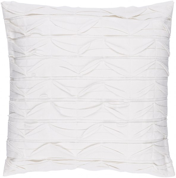 Huckaby Contemporary Ivory Cotton Throw Pillows 13513-VAR1