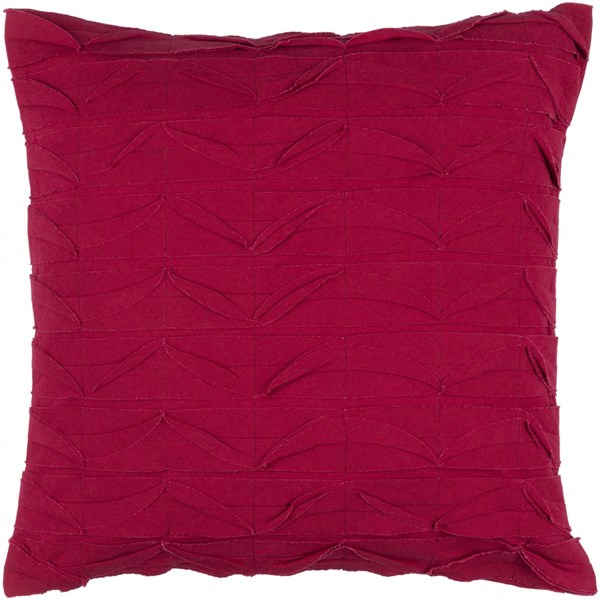 Huckaby Pillow with Poly Fill in Cherry - 18 x 18 x 4 HB006-1818P
