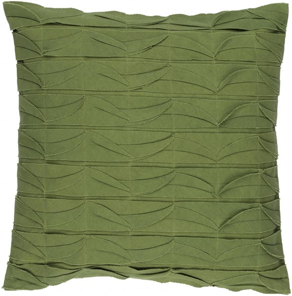 Huckaby Pillow with Poly Fill in Olive - 18 x 18 x 4 HB007-1818P