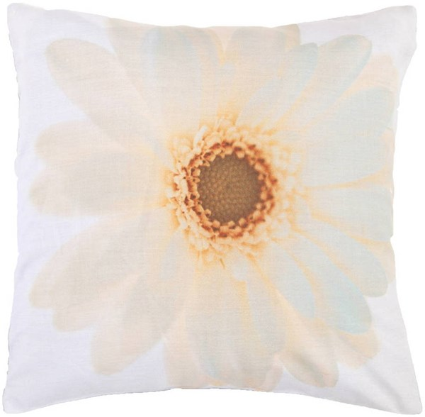 Saffron Sea Foam Fabric Poly Fill Square Pillow Kit (L 22 X W 22) HCO601-2222P