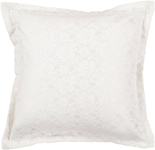 White Cream Fabric Down Fill Square Fabric Pillow Kit (L 18 X W 18) HCO607-1818D