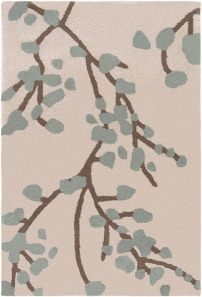 Hudson Park Light Gray Taupe Moss Polyester Area Rug - 24 x 36 HDP2001-23