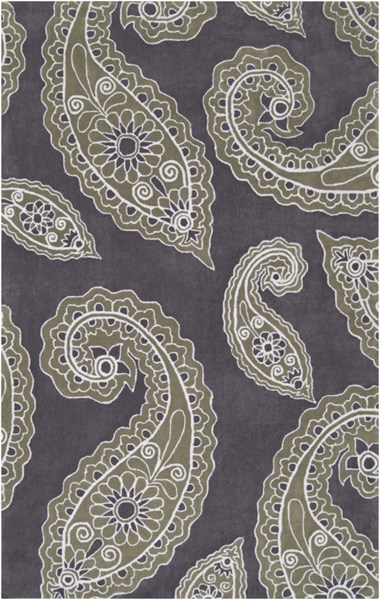 Hudson Park Charcoal Moss Ivory Polyester Area Rug - 60 x 90 HDP2018-576