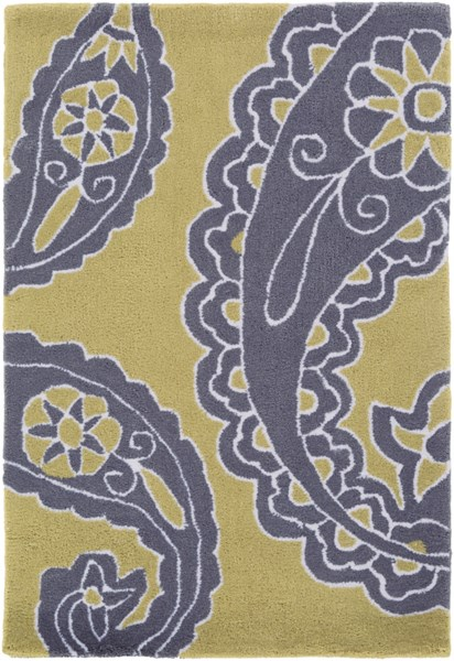 Hudson Park Lime Charcoal Ivory Polyester Area Rug - 24 x 36 HDP2021-23