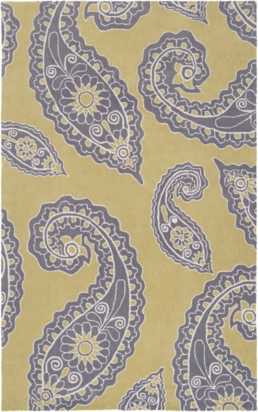 Hudson Park Lime Charcoal Ivory Polyester Area Rug - 60 x 90 HDP2021-576
