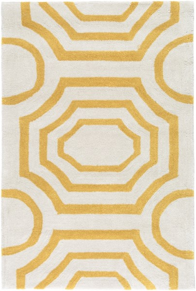 Hudson Park Gold Ivory Polyester Area Rug - 24 x 36 HDP2101-23