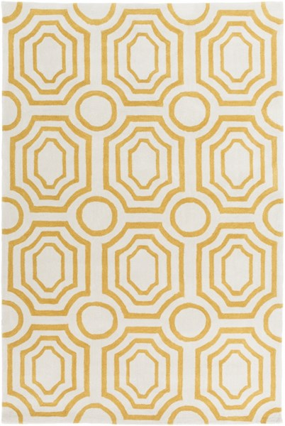 Hudson Park Gold Ivory Polyester Area Rug - 60 x 90 HDP2101-576