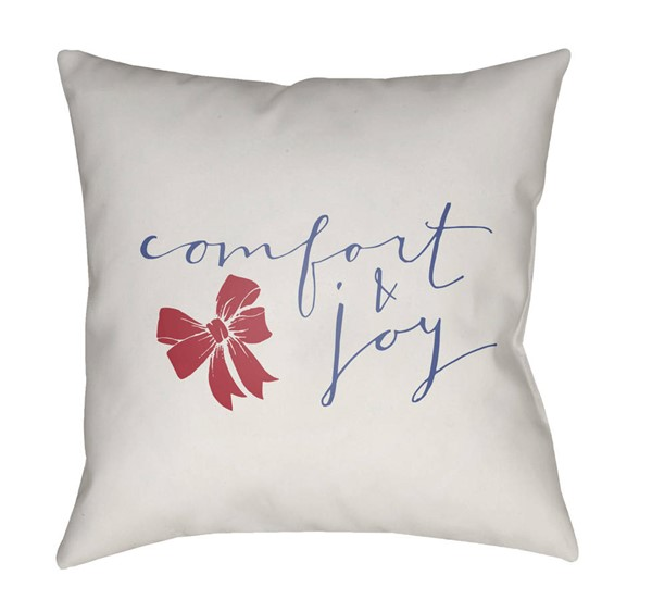Surya Comfort White Blue Pillow Cover - 18x18 HDY010-1818
