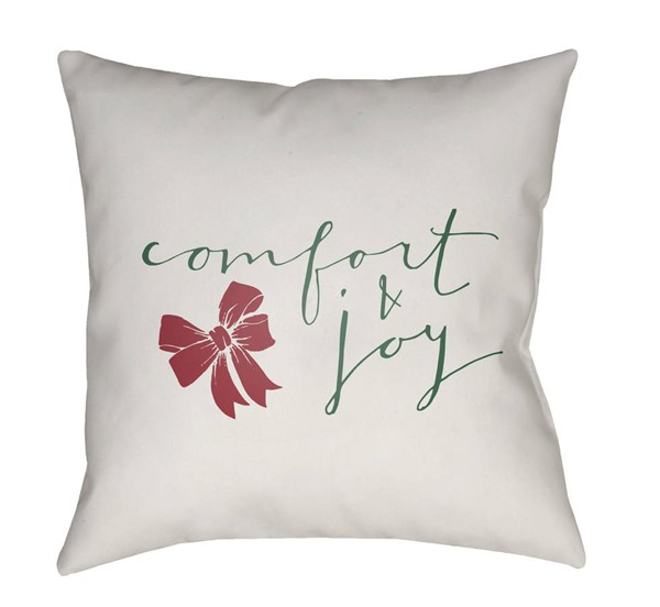 Surya Comfort White Green Pillow Cover - 18x18 HDY011-1818