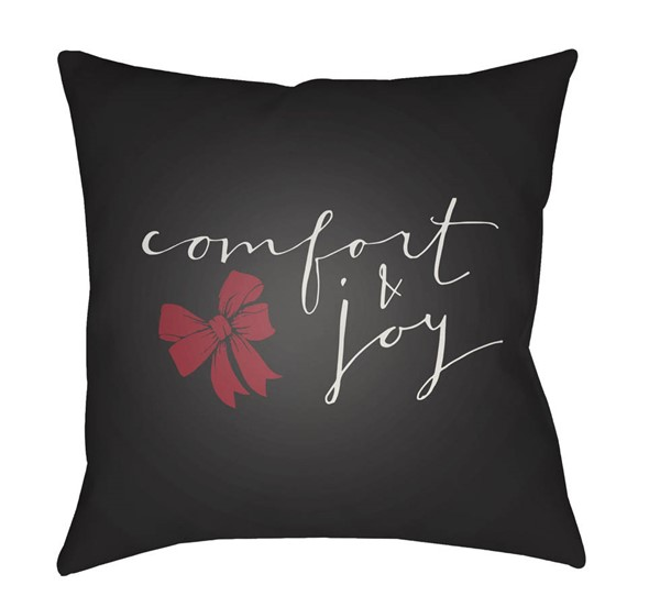 Surya Comfort Black White Pillow Cover - 20x20 HDY012-2020