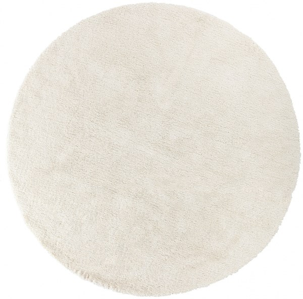 Heaven Contemporary Ivory Polyester Area Rug HEA8000-8RD