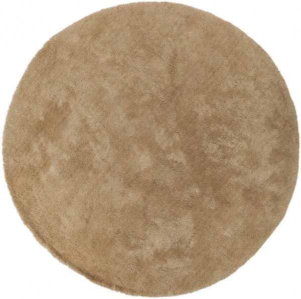Heaven Contemporary Beige Polyester Round Area Rug HEA8006-8RD
