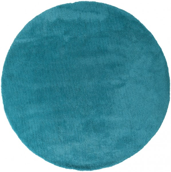 Heaven Contemporary Aqua Polyester Area Rug HEA8012-8RD