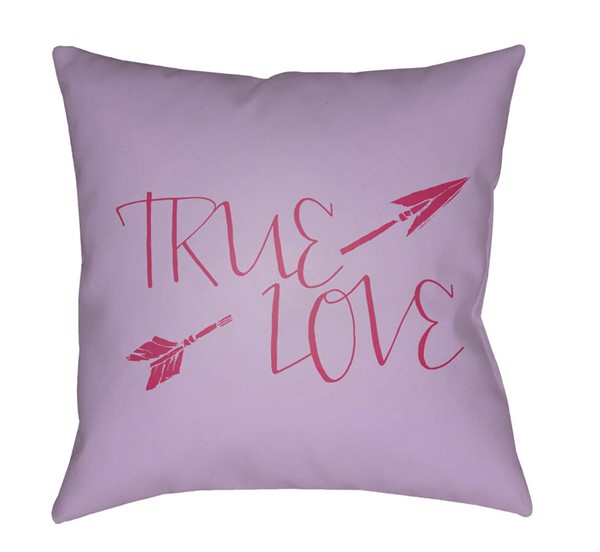 Surya True Love Lavender Red Pillow Cover - 18x18 HEART023-1818