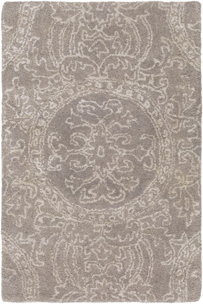 Henna Contemporary Light Gray Wool Viscose Area Rugs 936-VAR1