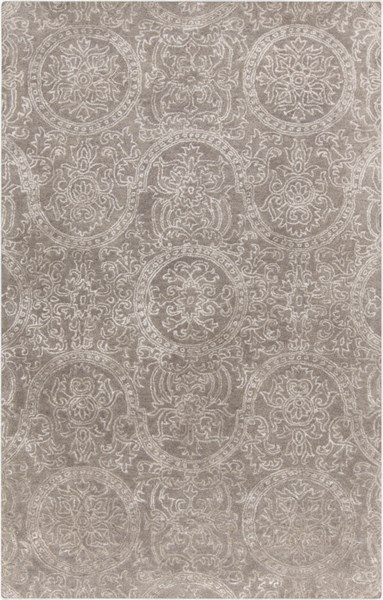 Henna Light Gray Wool Viscose Area Rug - 60 x 96 HEN1000-58