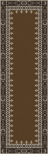 Henna Olive Chocolate Taupe Wool Viscose Runner - 30 x 96 HEN1007-268