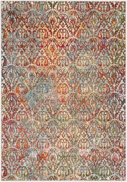 Surya Herati Bright Pink Orange Dark Red Area Rug - 36 x 24 HER2311-23