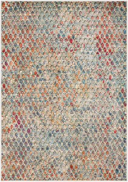 Surya Herati Aqua Dark Green Bright Orange Area Rug - 71 x 47 HER2312-311511