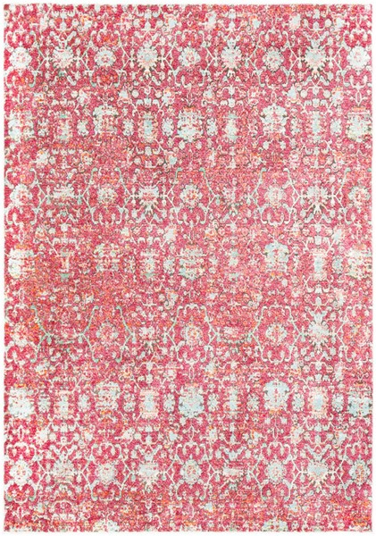 Surya Herati Dark Red Light Gray Area Rug - 87 x 63 HER2318-5373