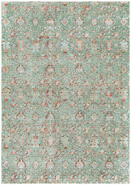 Surya Herati Dark Green Black Area Rug - 126 x 94 HER2319-710106