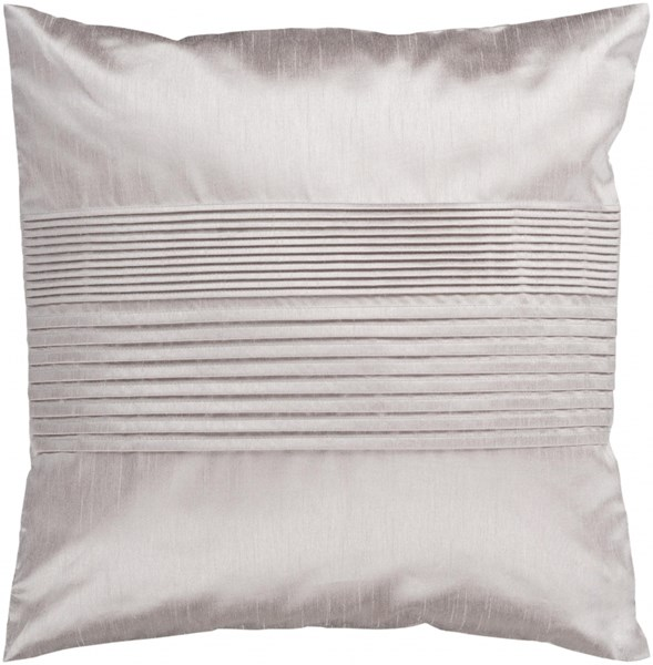 Solid Pleated Taupe Down Polyester Throw Pillow - 18x18x4 HH015-1818D