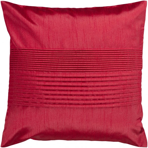 Solid Pleated Cherry Down Polyester Throw Pillow - 18x18x4 HH025-1818D