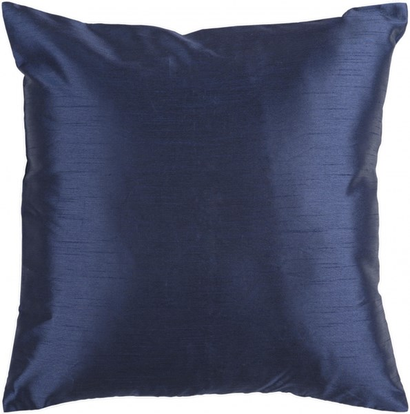 Solid Luxe Cobalt Down Polyester Throw Pillow - 22x22x5 HH032-2222D