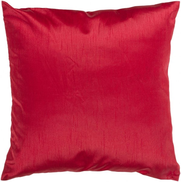 Solid Luxe Cherry Down Polyester Throw Pillow - 18x18x4 HH035-1818D