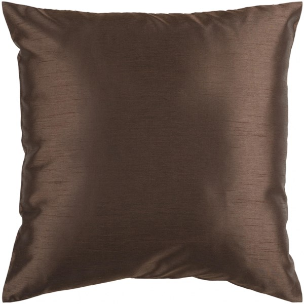 Solid Luxe Chocolate Down Polyester Throw Pillow - 18x18x4 HH040-1818D