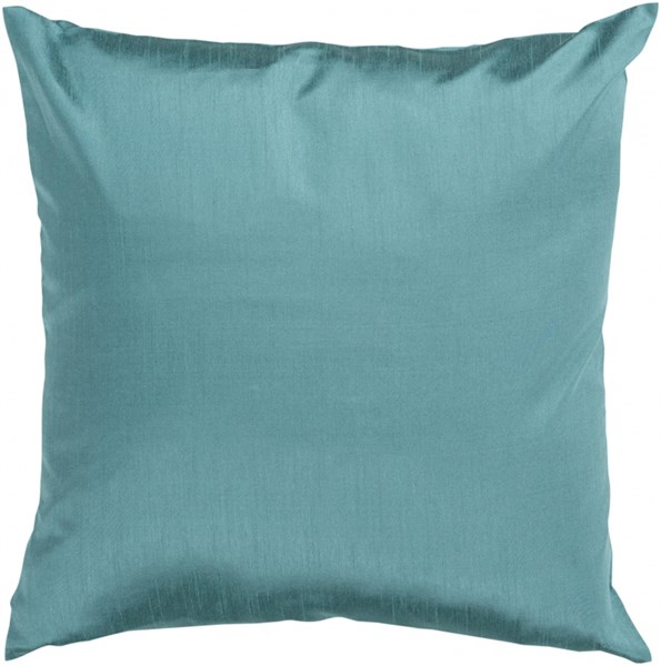 Solid Luxe Teal Poly Polyester Throw Pillow - 18x18x4 HH041-1818P