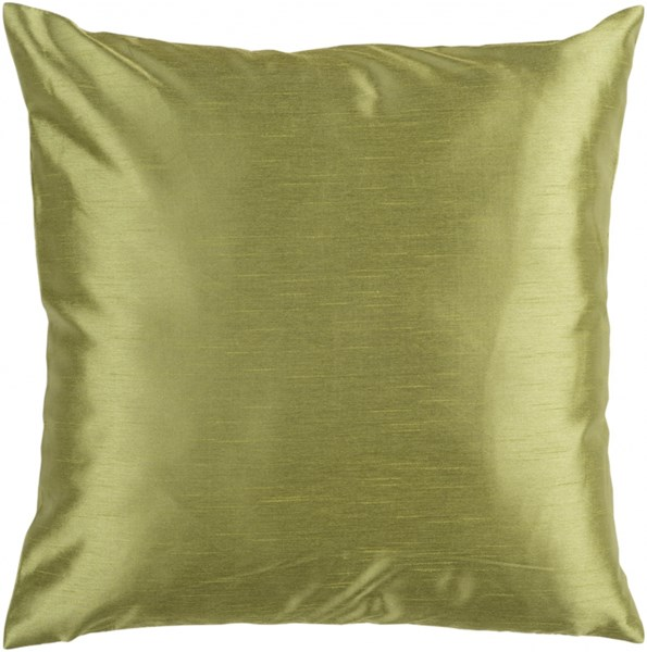 Solid Luxe Olive Down Polyester Throw Pillow - 18x18x4 HH043-1818D