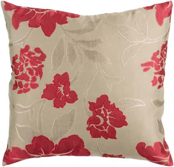 Blossom Olive Cherry Down Polyester Polyamide Throw Pillow - 18x18 HH047-1818D