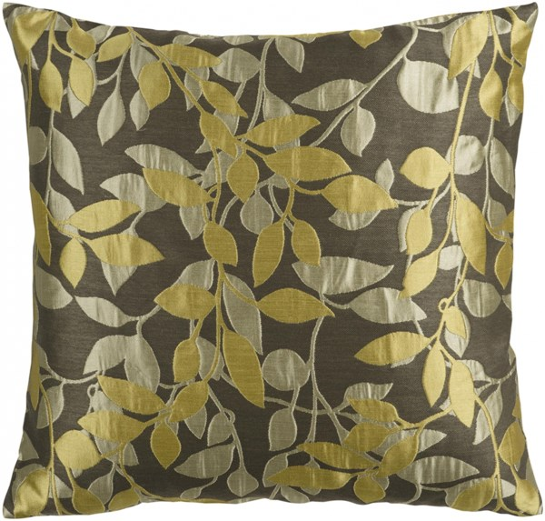 Wind Chime Olive Poly Polyester Polyamide Throw Pillow - 22x22x5 HH060-2222P
