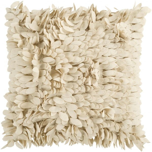 Claire Beige Poly Polyester Throw Pillow - 22x22x5 HH070-2222P