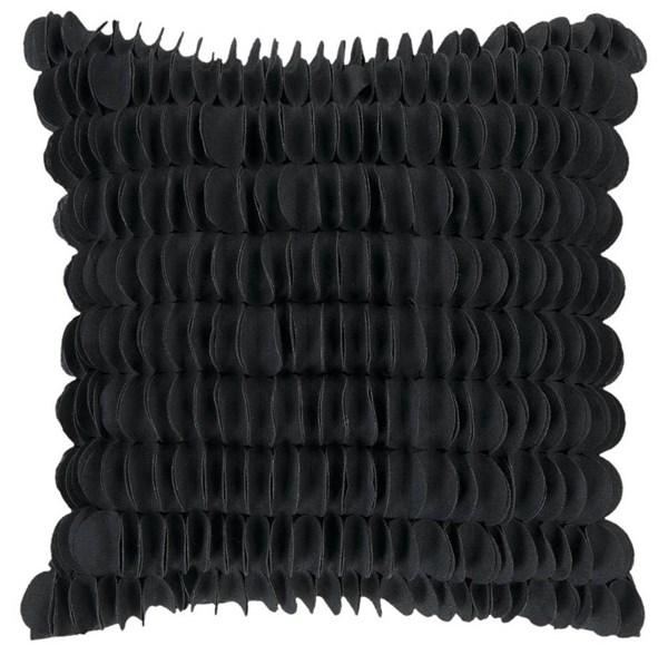 Black Fabric Down Fill Square Fabric Pillow Kit (L 18 X W 18) HH085-1818D