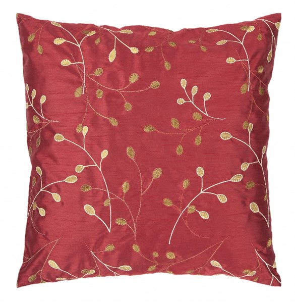 Blossom Cherry Gold Ivory Down Polyester Throw Pillow - 18x184 HH093-1818D
