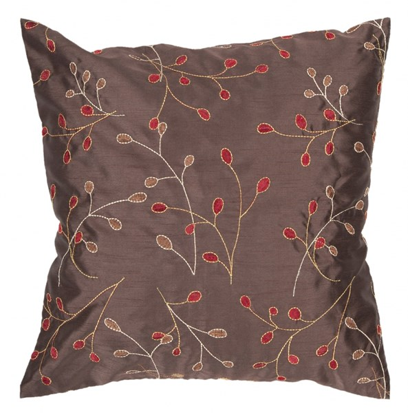 Blossom Gold Cherry Ivory Down Polyester Throw Pillow - 18x18x4 HH094-1818D