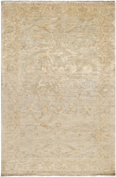 Hillcrest Beige Light Gray Taupe New Zealand Wool Area Rug - 66 x 102 HIL9010-5686