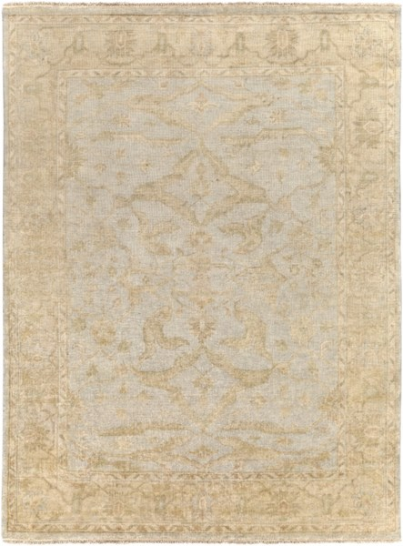 Hillcrest Beige Light Gray Taupe New Zealand Wool Area Rug - 96 x 132 HIL9010-811