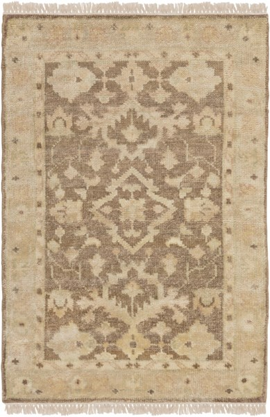 Hillcrest Beige Light Gray Olive New Zealand Wool Area Rug - 24 x 36 HIL9011-23