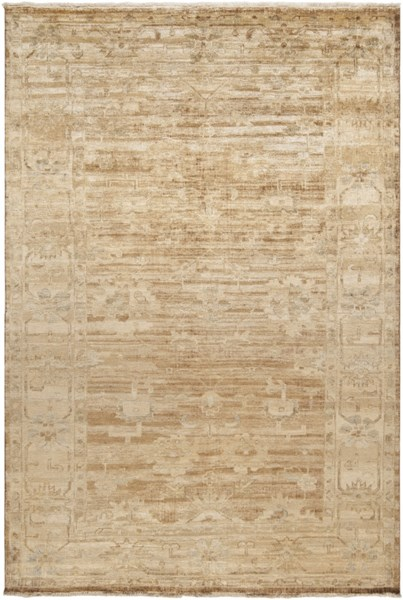 Hillcrest Beige Taupe Rust New Zealand Wool Area Rug - 66 x 102 HIL9012-5686
