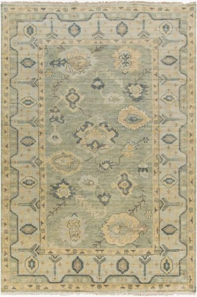 Hillcrest Olive Gold Sea Foam New Zealand Wool Area Rug - 66 x 102 HIL9017-5686