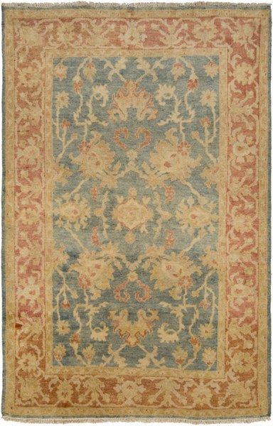 Hillcrest Teal Rust Gold New Zealand Wool Area Rug - 66 x 102 HIL9026-5686